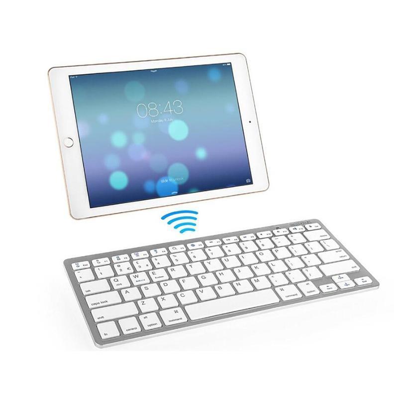 Ultra Slim Bluetooth-Tastatur für Samsung Huawei Tablet und andere Bluetooth-fähige Geräte, für Android, Windows und IOS-System
