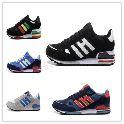 Adidas Originals ZX750 Zx750 originales de los zapatos corrientes del ante remiendo manera barata al por mayor de alta calidad atlética ZX 750 transpirable cómodo Formadores PP04