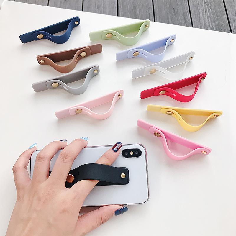 Silikon bileklik parmak yüzük kavrama cep telefonu tutucu standı itme çekme sticker evrensel el bandı telefon tutucusu desteği yapıştırın