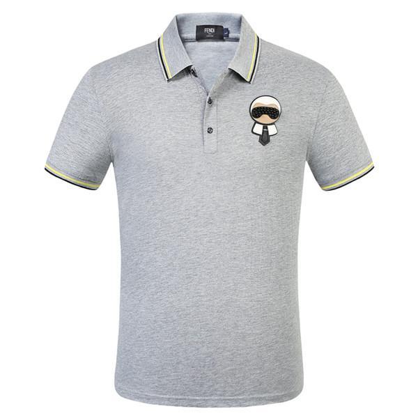 Camisa de Italia Tee lujo primavera camiseta de diseño Polos de la calle principal del bordado serpientes de liga pequeña abeja impresión Ropa para hombre de la marca Polo