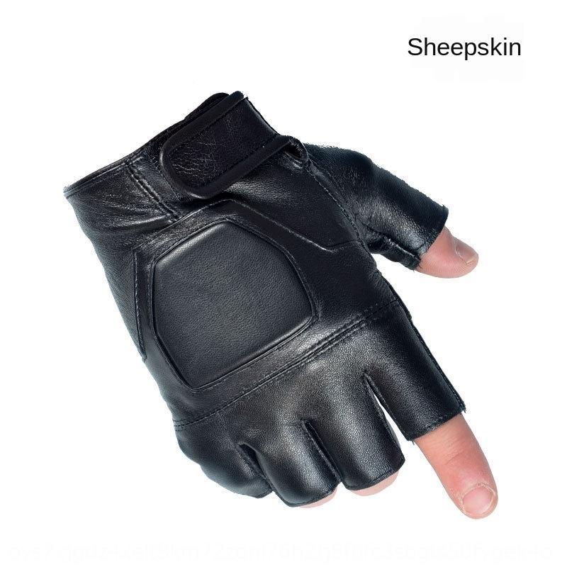 BRZVn Erkek ve yarı fin doğa sporları, fitness egzersiz Açık spor Egzersiz eldiven sürme kadınların hakiki koyun derisi klasik yarım parmak