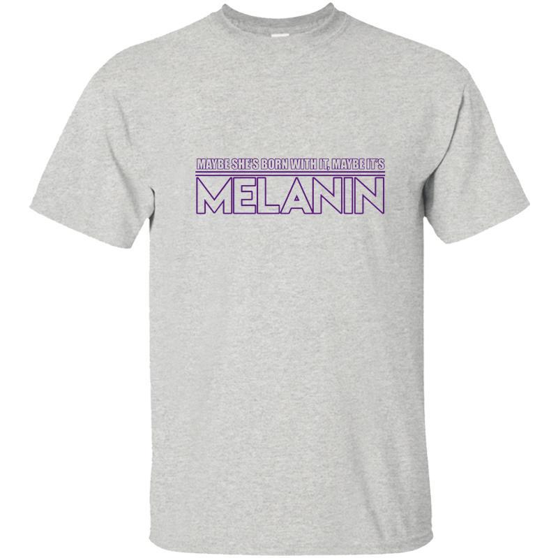 Moda Melanin Sihirli! Erkek Tişört Erkek T Gömlek Tişört Erkek Katı Renk Erkek Boyut S-5XL Tasarım La Camiseta Tops Soğuk
