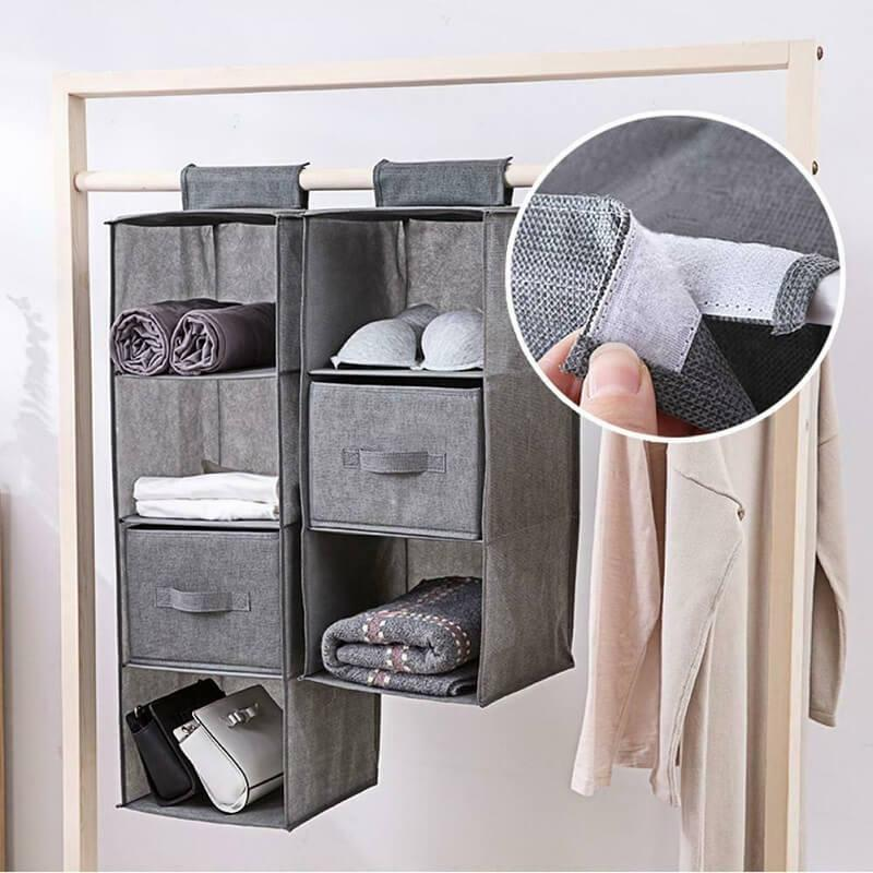 Wardrobe Interlayer Drawer Type Wardrobe Hanging Clothes Closet Storage Bag Organizer Debris Box Hanger