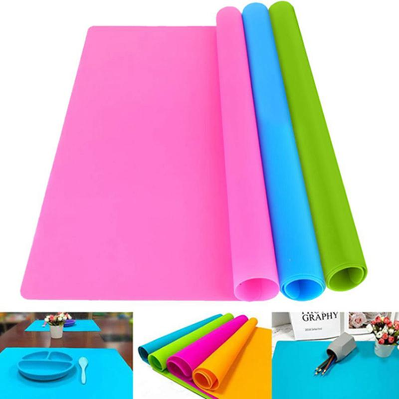 40x30cm Food Grade Silicone Mats Baking Liner Silicone Oven Mat Heat Insulation Pad Bakeware Kid Table Placemat Decoration Mat IIA342