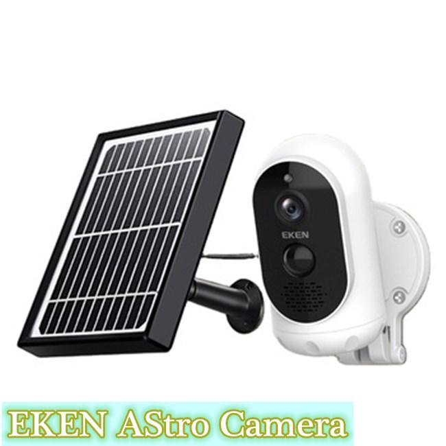 1080p Full HD Original EKEN Astro Wireless smart Battery IP Camera + Solar Panel 365-day nonstop power with motion detection app control