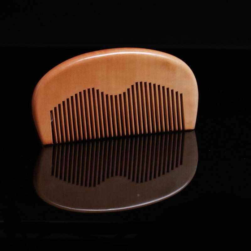 لحية مشط خشبي منقوش بالليزر الشعر كومز كهرباء الوقاية قادين ستلينغس أداة مخصصة الشعار الساخن بيع 1 4HS E2