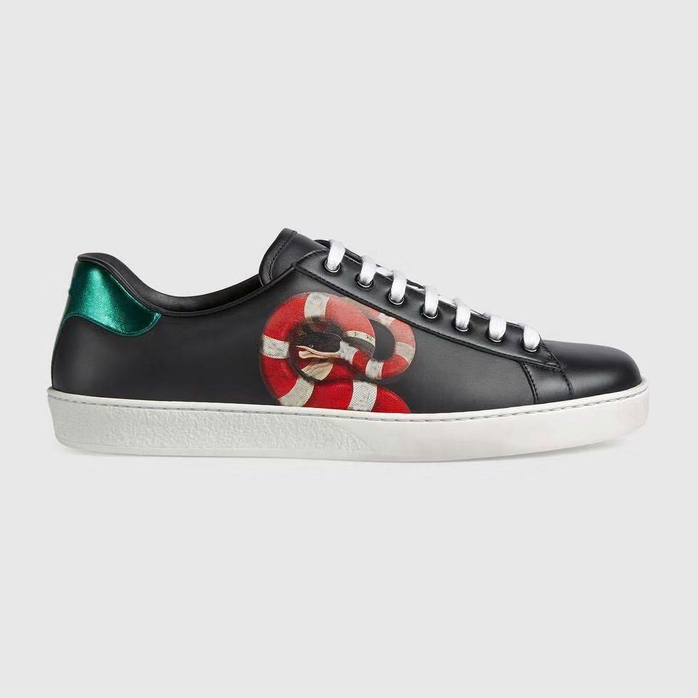 chaussures hommes concepteur serpent de luxe marque internationale et des femmes casual chaussures en cuir d'aide faible 7633to abeille Ace chaussures rayées à pied