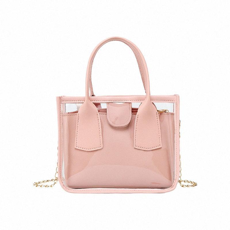 Jelly Kleine und große Transparente Beutel-Großverkauf 2020 Sommer-neue koreanische Art-bewegliche Schulter-Beutel-Frauen-Handtaschen und Geldbörsen 1e9k #