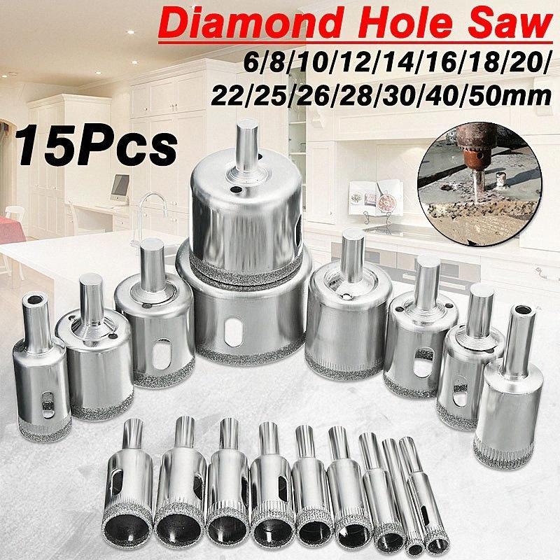 ferramenta de broca buraco serra de diamante 6-50mm porcelana cerâmica de vidro de mármore 6/8/10/12/14/16/18/20/22/25/26/28/30/40 / 50 milímetros 0l99 #