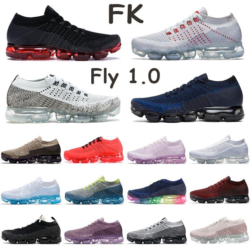 FK 1.0 Runnning Shoes for Mens Oreo Midnight Navy bred سلسلة الصدأ الوردي الثلاثي الأسود الأبيض كن صحيحا المدربين البلاتين النقي