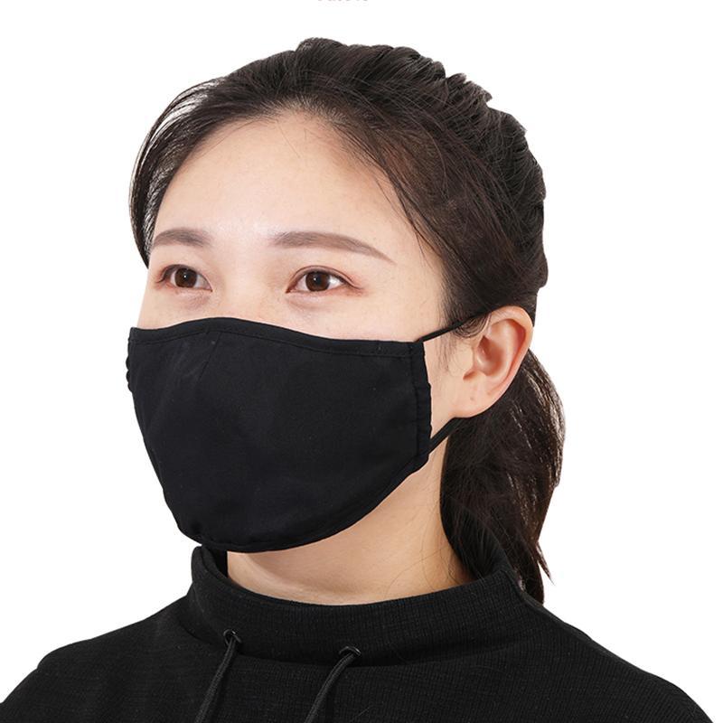 Lavable Masque visage blanc réutilisable femmes bouche Masque Masque poussière Masques Anti coupe-vent