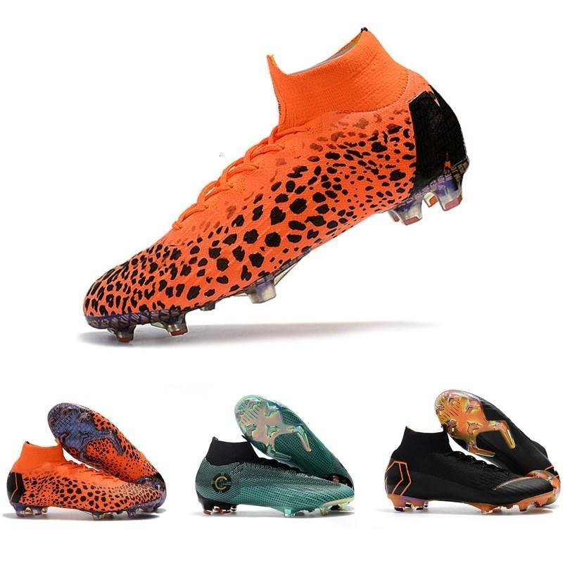 018 top quality mens soccer cleats Mercurial Superfly VI 360 Elite Ronaldo FG soccer shoes chaussures de football boots high ankle cheap