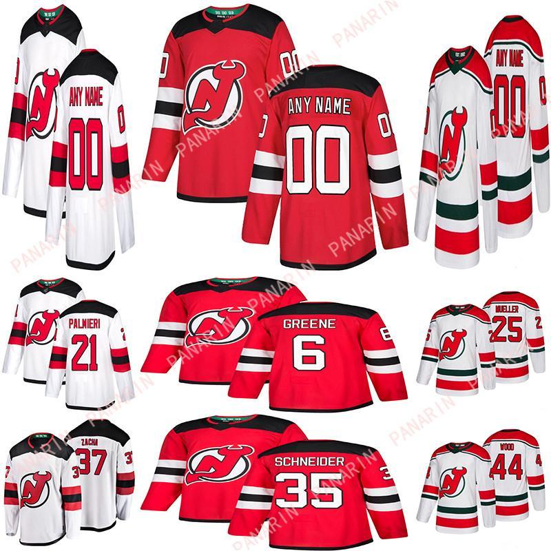 Miúdos Homens Mulheres New Jersey Devils Hóquei 35 Schneider 9 Hall Palmieri Greene Mueller Bratt Personalize Qualquer Número Qualquer Nome Hóquei Jersey