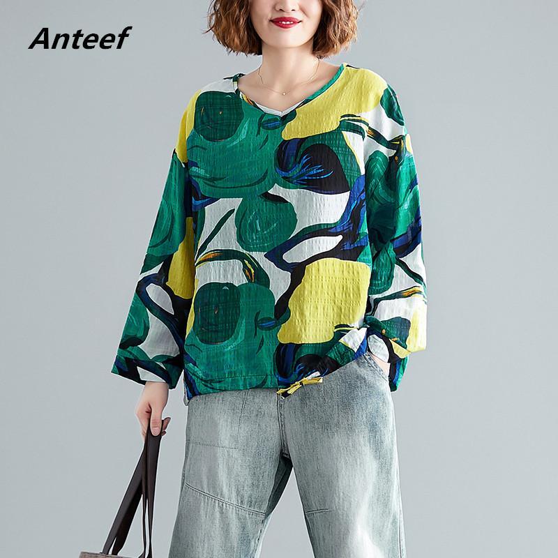 cotone stile coreano plus size annata autunno casuali delle donne allentate maglietta della maglietta della maglietta signore della maglietta vestiti 2020 cime streetwear