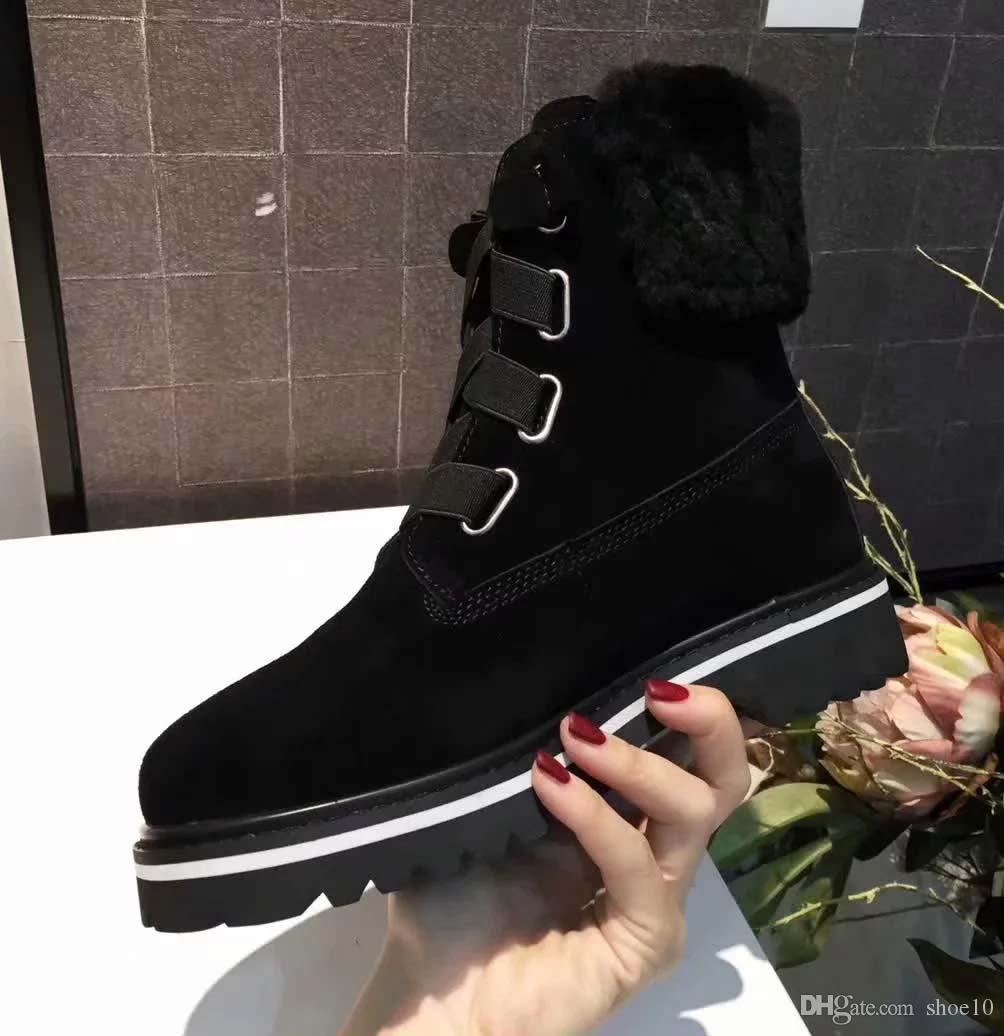Kadınlar için 2019 klasik Avustralya kış botları siyah pembe kahve tasarımcı kar kürk çizme Kutusu U06 ile ayak bileği diz çizme womens kestane