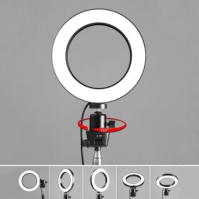 Fábrica de 6,3 / 7,8 / 10,2 Regulável Camera Foto Fotografia LED Estúdio Video Phone Beleza Luz Anel Regulável Live Desktop Rin