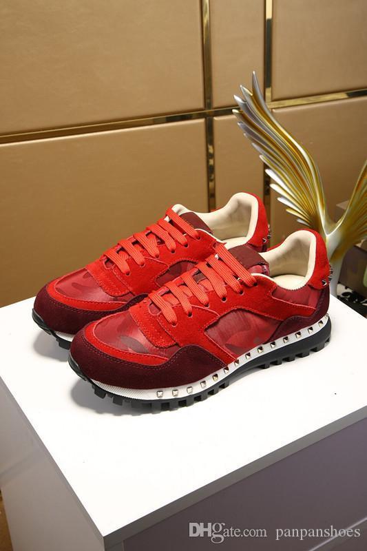 2019 Luxury Designer Homens calçados casuais dos homens da forma das mulheres das sapatilhas de couro branco Plataforma Shoes hy18032403