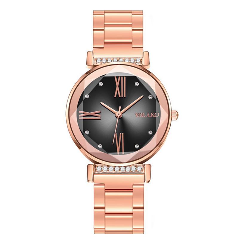 kreativer Diamant roma Steine Entwurf für Art und Weise Frauendamen kleidet Großhandel Kursteilnehmergeschenk Handgelenk Uhr Armbanduhr Zu