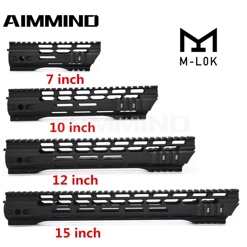 AR15 M4 M-LOK HANDGUARD 7 10 12 15 بوصة سليم الحرة تعويم HANDGUARD Picatinny السكك الحديدية جبل