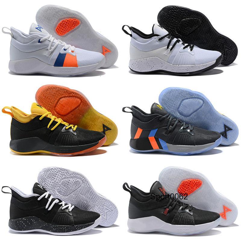 Paul George PG 2 TS GS ID EP PALMDALE II Enfants Chaussures de basket pas cher PG2 2S Bleu Orange étoilées sport Noir Rouge Chaussures de sport