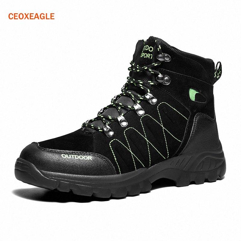 Hommes Chaussures de montagne imperméables Pu Chaussures en cuir Escalade Pêche Nouveauté Populaire extérieure respirante Chaud Grandes Tailles 48 WLal #