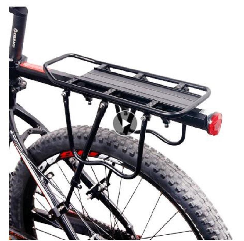 coffre bicyclette bagages Porte-bagages arrière Porte-bagages étagère à vélo Sacoche Tige de selle Porte-support pour 20-29 pouces vélos avec outils d'installation