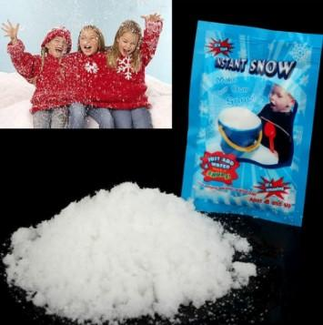 슈퍼 흡수 냉동 마술 파티 웨딩 장식 크리스마스 선물 눈송이 인공 눈 인스턴트 부드러운 눈 가루