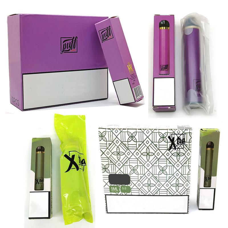 Puff Xtra & Xtra disposable vape Device Pod Kit 5.0ml Cartridge Powerful Battery Empty Vape Pen Posh Bidi 5 Colors