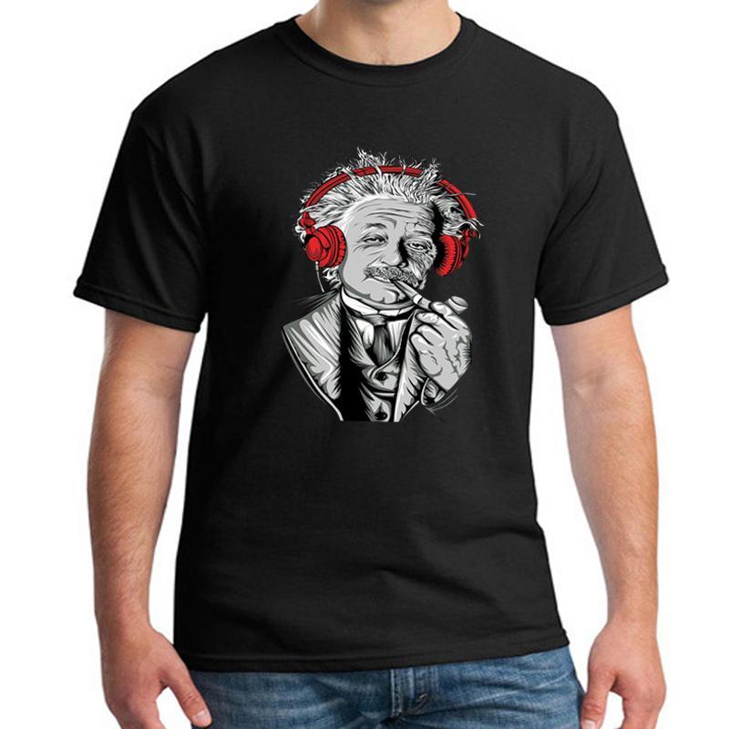 Math Science T-shirt For Headset music 3d T Shirt Men/women Funny Print Einstein T-shirt Casual Tops Large Size Shirt Mens