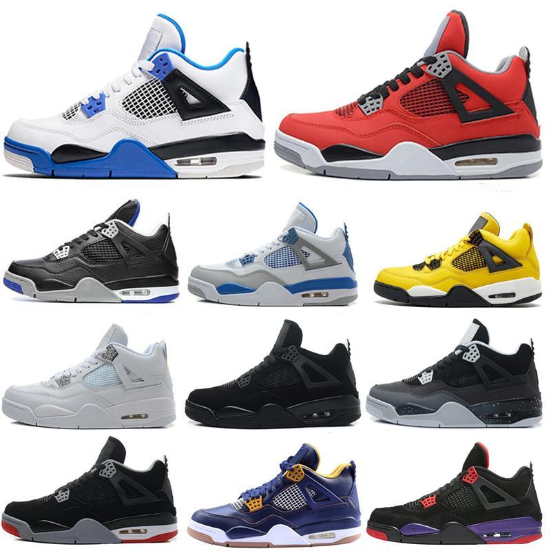 a buon mercato classico 4s scarpe da basket bassa bianca allevati 11s uomini scarpe carine grigio gamma leggenda blu cemento nero Sneakers Sport