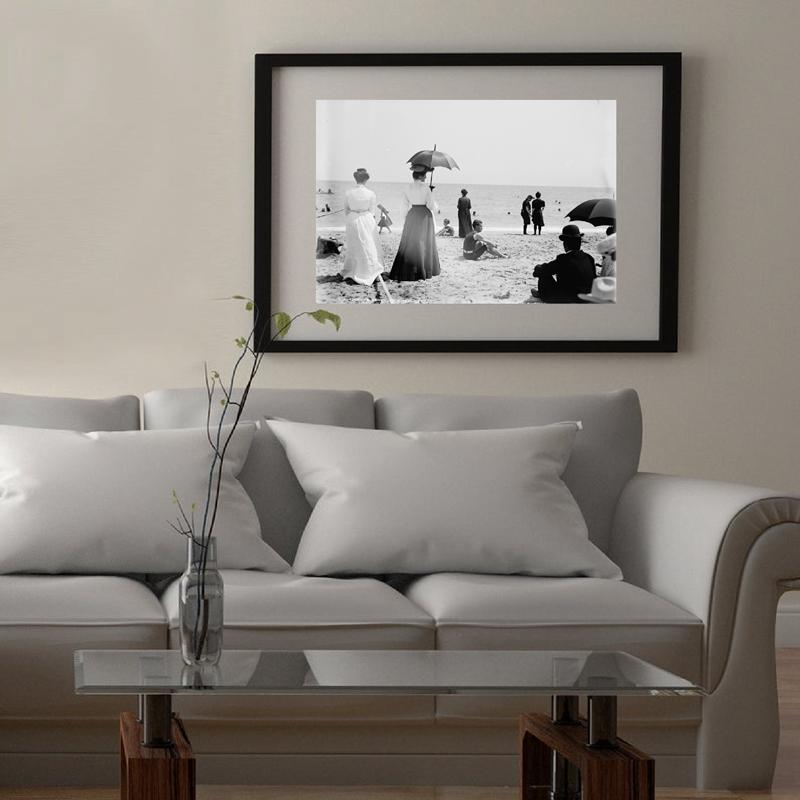 Palm Beach 1903s Vintage Photography Canvas Poster Victorian Summer Vacation Beach Landscape Wall Art Painting Prints Home Decor