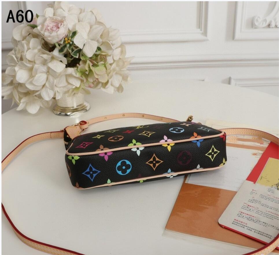 New M92649 Top Farbe Modedesigner bunt einzelne Schulterbeutel Geldbeutel Geldbeutel Geldbeutel 22 * 13 cm