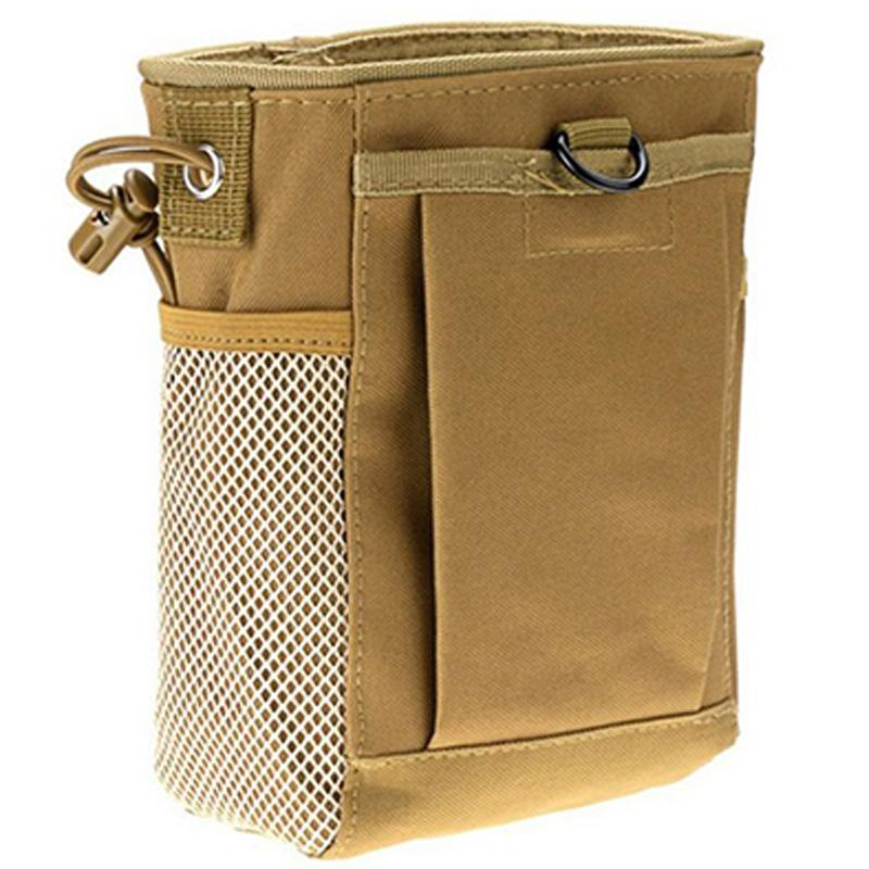 Molle System Hunting azine Dump Drop Pouch Recycle Waist Pack Ammo Bags Hunting Accessories Bag,Khaki