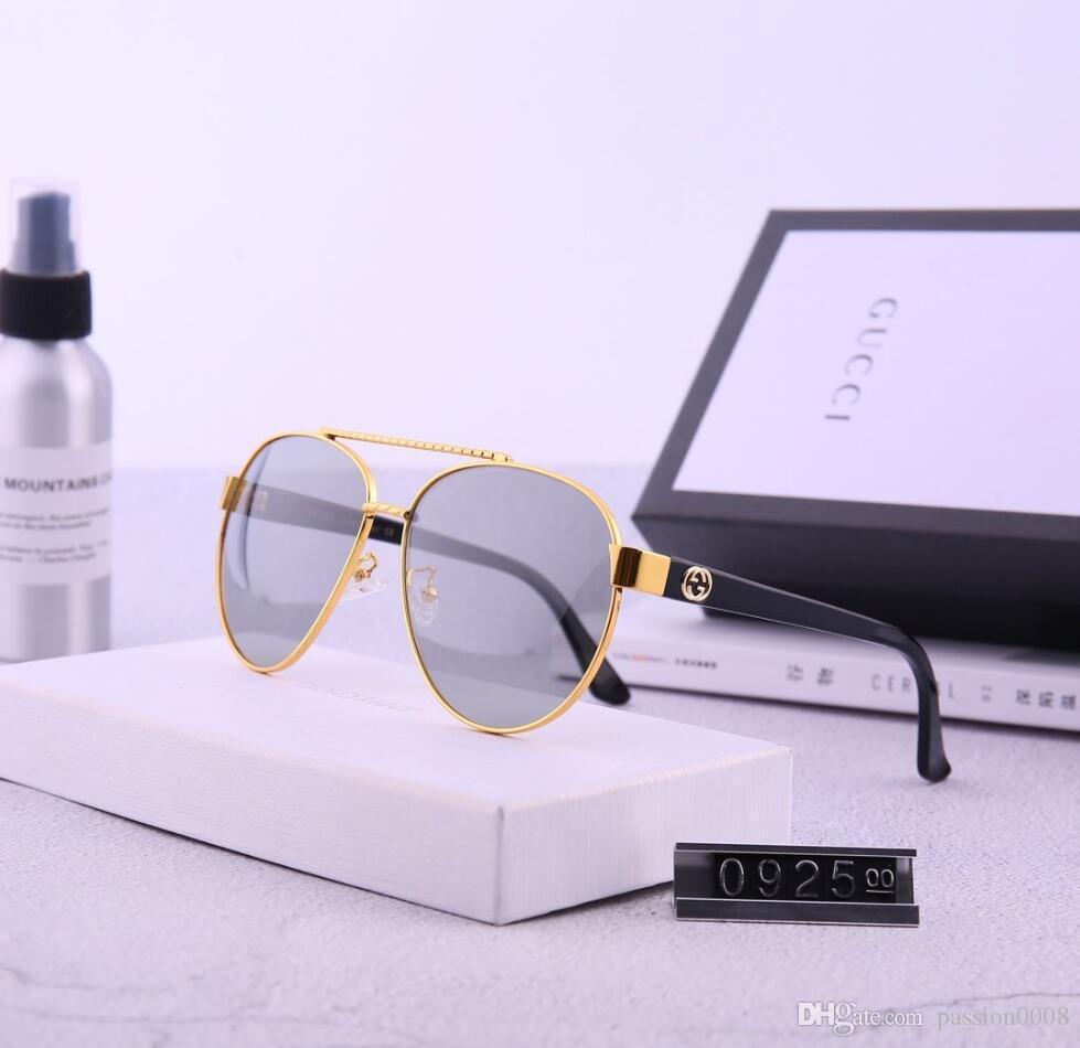 2021 vendita calda di disegno di marca degli occhiali da sole di marca Pilot Vintage Occhiali da sole UV400 banda Uomini Donne Ben metallo vetro Montatura Lente AA29