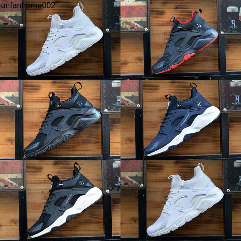 Huarache X Acronym City MID Leather High Top Huaraches Mens Trainers Kids Running Shoes Men Huraches Sneakers Hurache