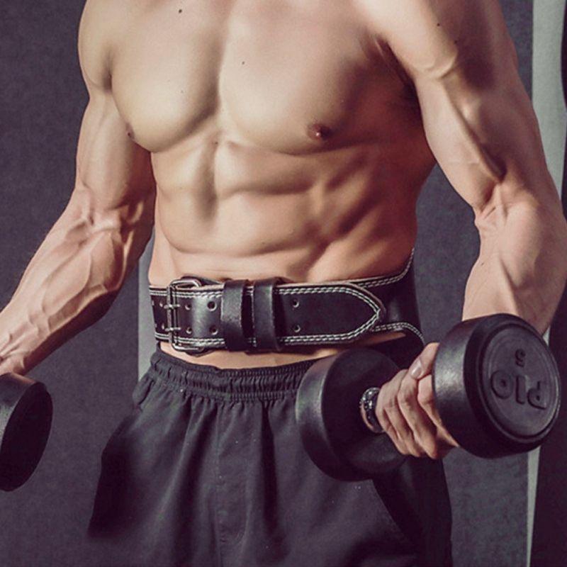 Halter Erkek Kadın Kuşak Gym Fitness Ağırlık Kaldırma Geri Destek PU Deri Güç Kuvvet Eğitimi Kemer yeni