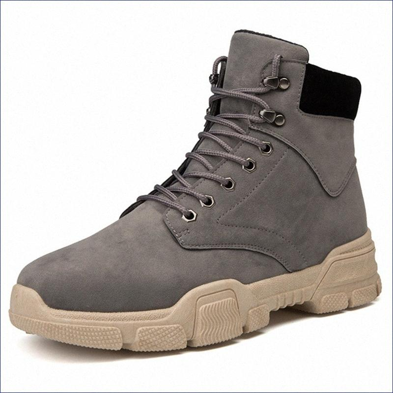 Scarpe Autunno Inverno Mens Boots Retro Style Boots Mens Casual Fashion alto per aiutare Deserto di utensili con caviglia Calzari combattimento Boots F vM9m #