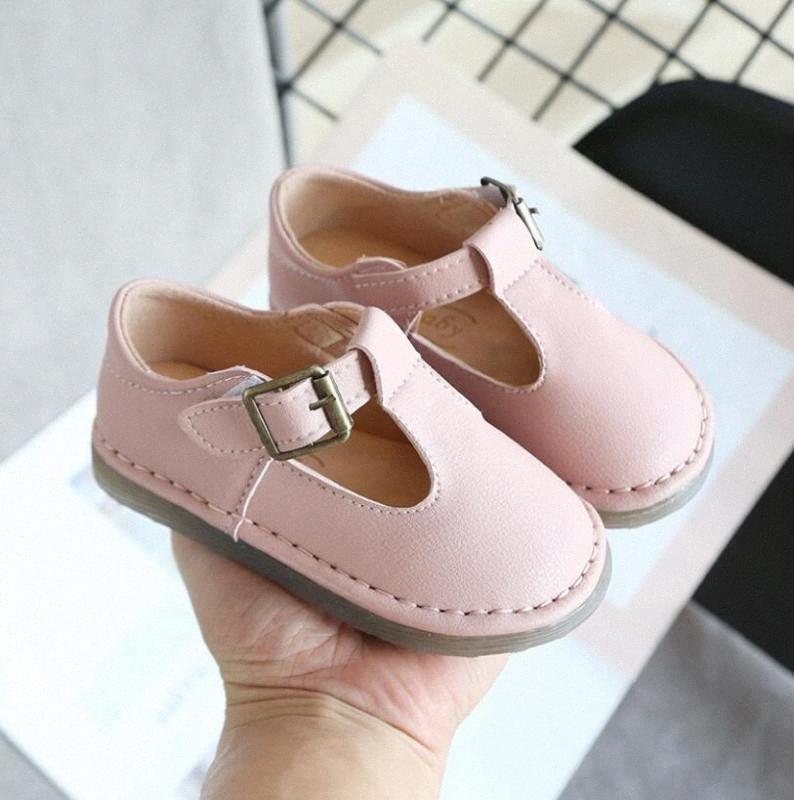 Chaussures de l'école pour filles Angleterre style garçons Chaussures en cuir Mode Bébé Couture Casual Enfants Sandales Filles Sole LL3H # Doux