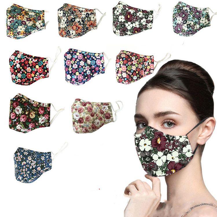 горячий Цветочные печати Маска дышащий Складная Mouth Маски многоразовые маски маска для лица без фильтра Сломанный цветы Дизайнер Маски T2I51209