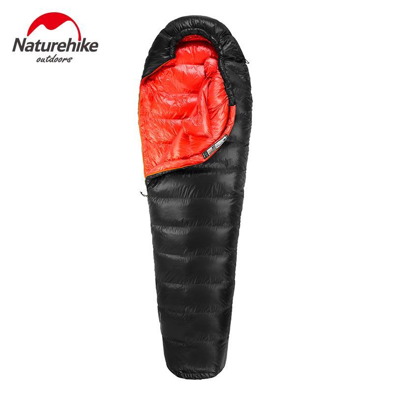 Naturehike 600FP de pato saco de dormir al aire libre en clima frío de invierno que va de excursión de la momia sacos de dormir
