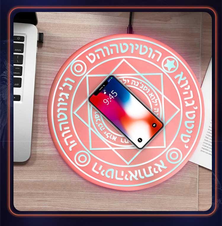 Büyük Magic Matrix Kablosuz Şarj Moda QI 10W Kablosuz Şarj iPhone / Galaxy Huawei Mikro USB C Tipi Hızlı 2 Renkler Şarj