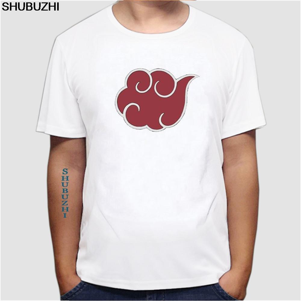 Anime giapponese Naruto Akatsuki Nuvola Rossa maglietta vendita calda estate del manicotto Uomini Breve cotone 100% allentati misura Maschio T-shirt