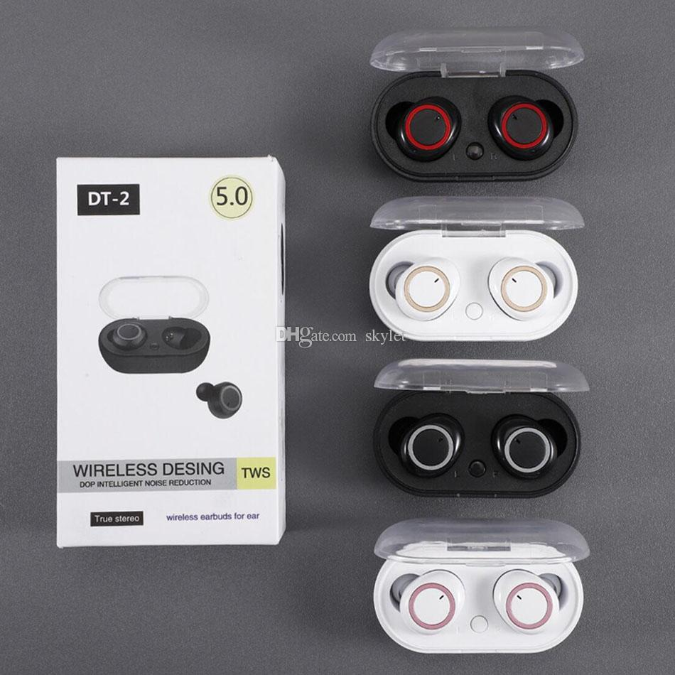 DT-2 Bluetooth Earphones Mini Earbuds Wireless Headphones Stereo Sound Sports Headset for Cellphone with Retail Box