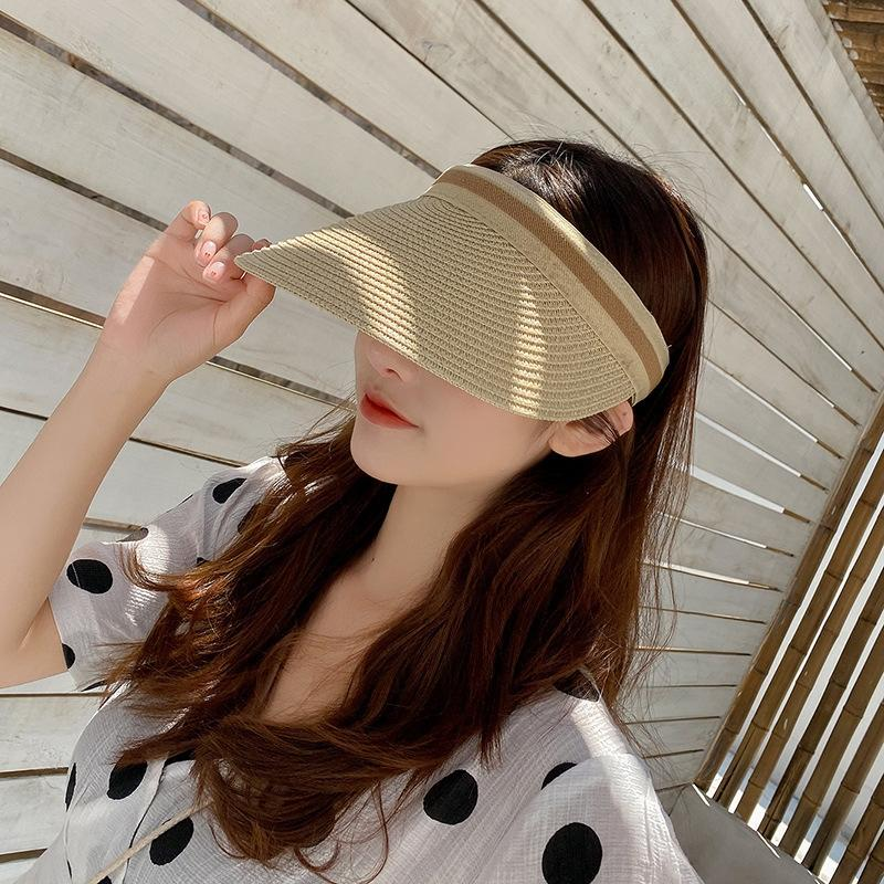 Saman saman yetişkin güneş büyük ağzına kadar güneş şapkası Koreli yabancı tarzı ebeveyn-çocuk boş şapka anne ve kızı Yaz