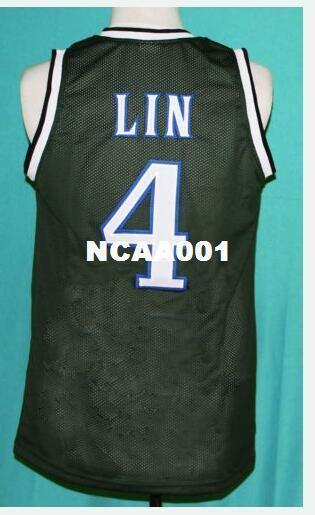 Homens Vintage # 4 JEREMY LIN jersey PALO ALTO VERDE Colégio tamanho S-4XL ou personalizado qualquer nome ou número de camisa