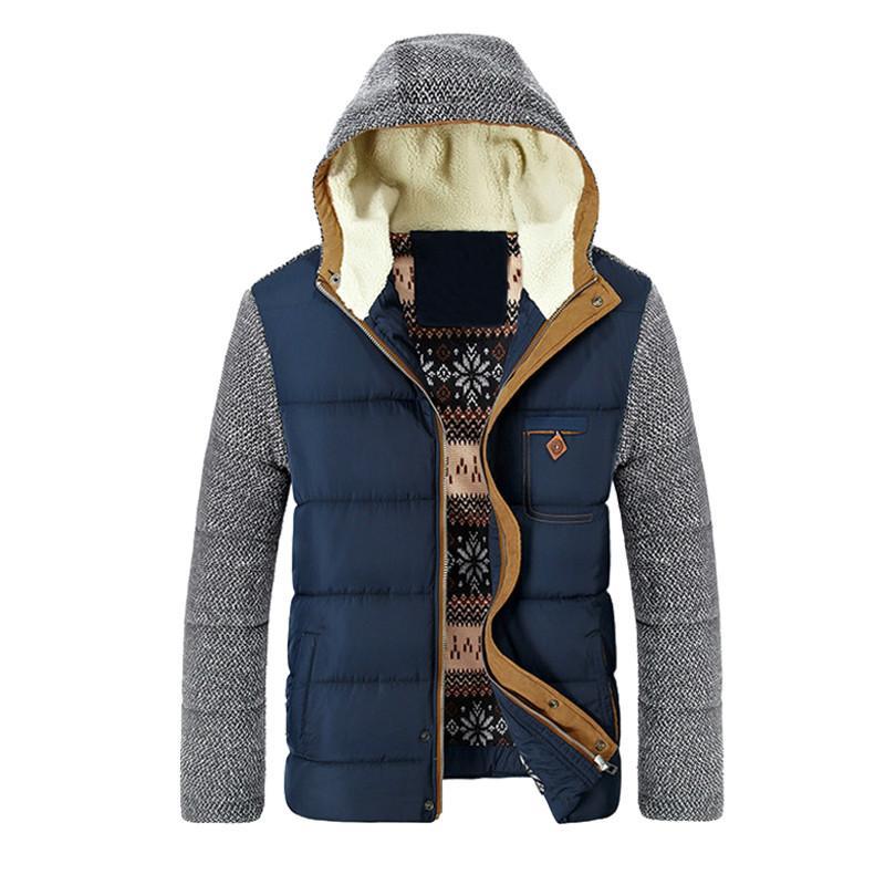 الدافئة PADEGAO معطف الشتاء الرجال ستر سميكة الصوف القطن معاطف سليم ذكر الستر مقنع معطف رجالي العلامة التجارية الملابس PDG1499