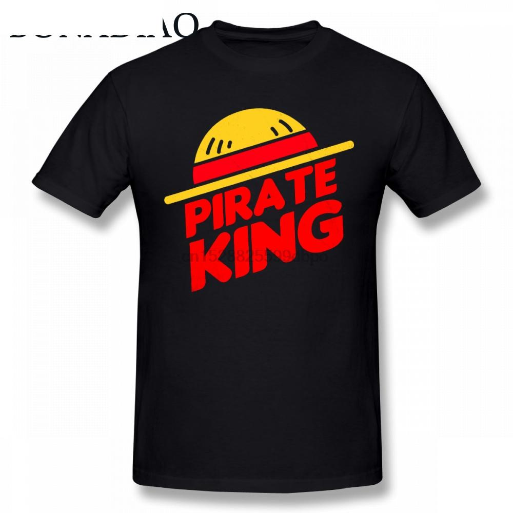 Neuheit One Piece T-Shirt Luffy Strohhut-Piraten-König T-Shirt für Mann populärer japanische Anime Harajuku Street-T-Shirt