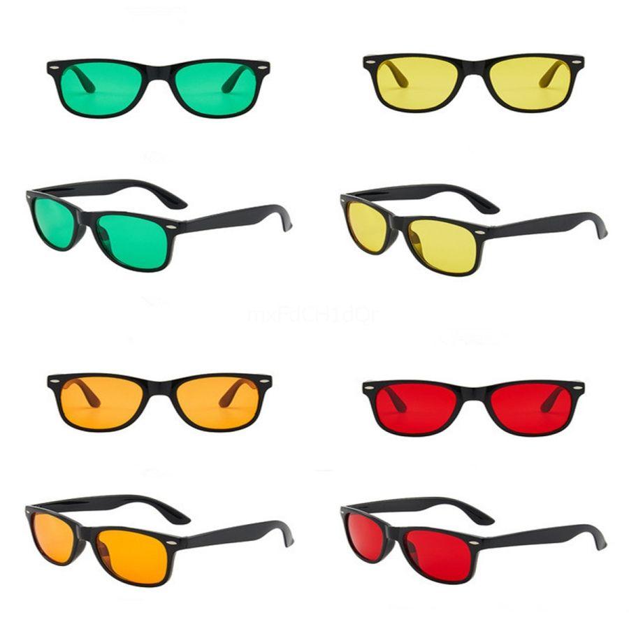Fasion Diamond Sape Women Sunglasses Women Retro Sunglasses Metal Frame Red Yellow Lens Steampunk Vintage Eye Glass#890