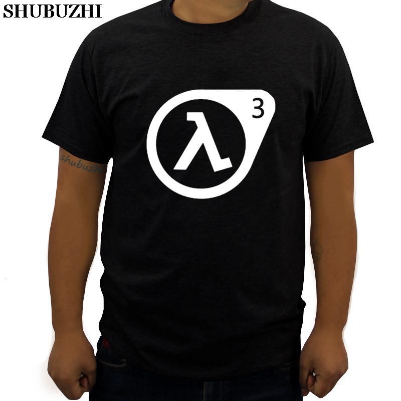 Homens Marca T-Shirt Half Life 3 T Shirt Men Summer Fashion T-shirt de algodão estampado Man T-shirt Tops Nova Marca
