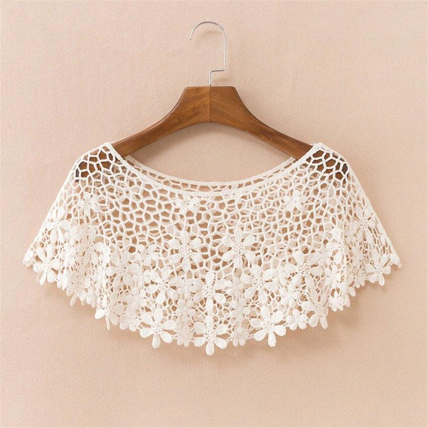2019 Chic Summer Elegant Women Hollow Out Shawl Capes Lady White Kintted Wraps Lace Wrap Bolero Accessories Beach Coats Tops 712 EdFg#